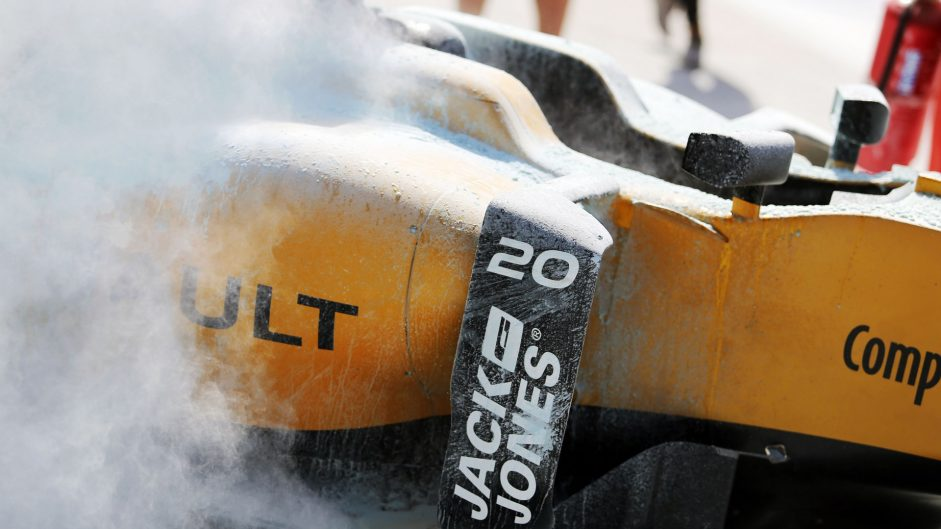 Serious Renault fire stops practice