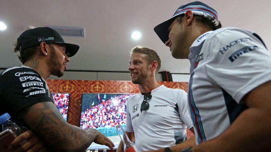 Lewis Hamilton, Jenson Button, Valtteri Bottas, Sepang International Circuit, 2016