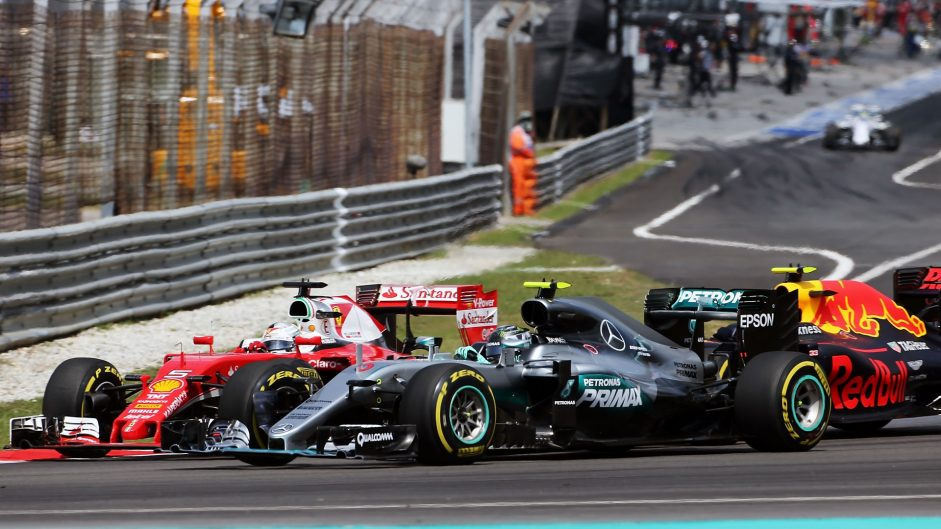 Vettel gets three-place penalty for Rosberg crash