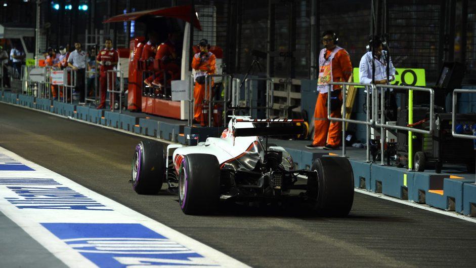 Romain Grosjean, Haas, Singapore, 2016