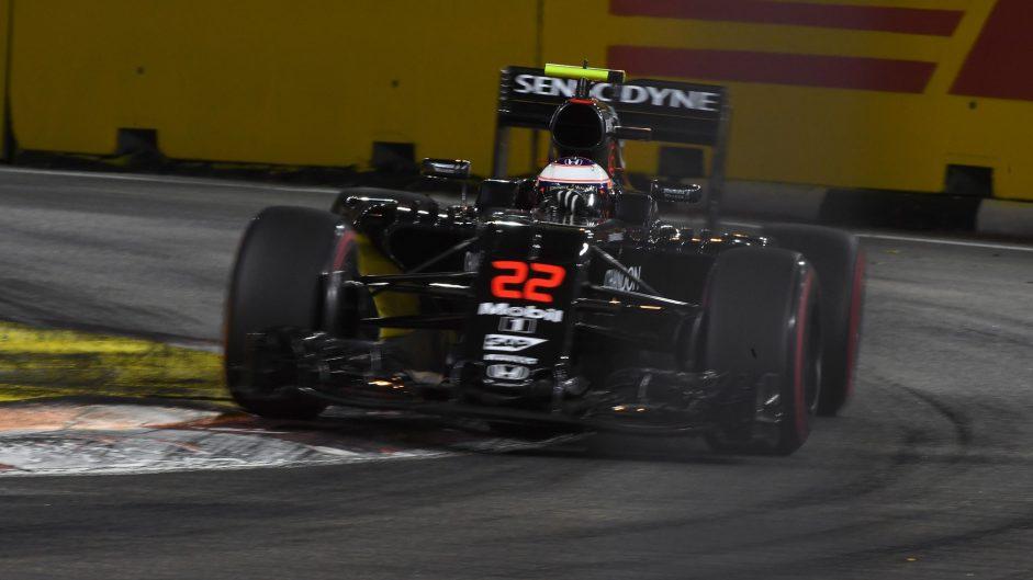 Jenson Button, McLaren, Singapore, 2016