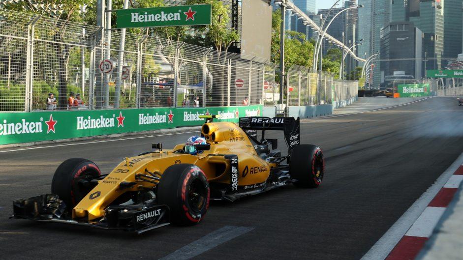 Jolyon Palmer, Renault, Singapore, 2016