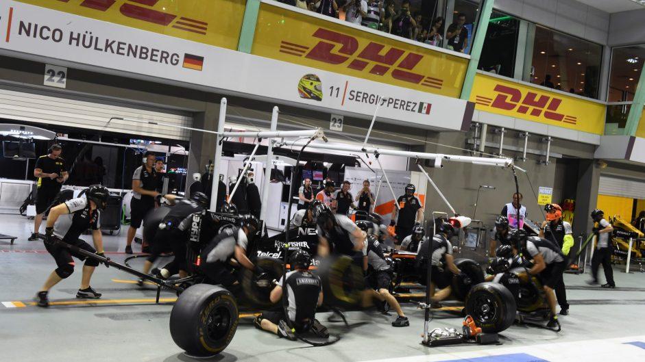 Sergio Perez, Force India, Singapore, 2016