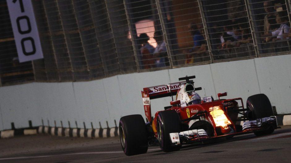 Sebastian Vettel, Ferrari, Singapore, 2016
