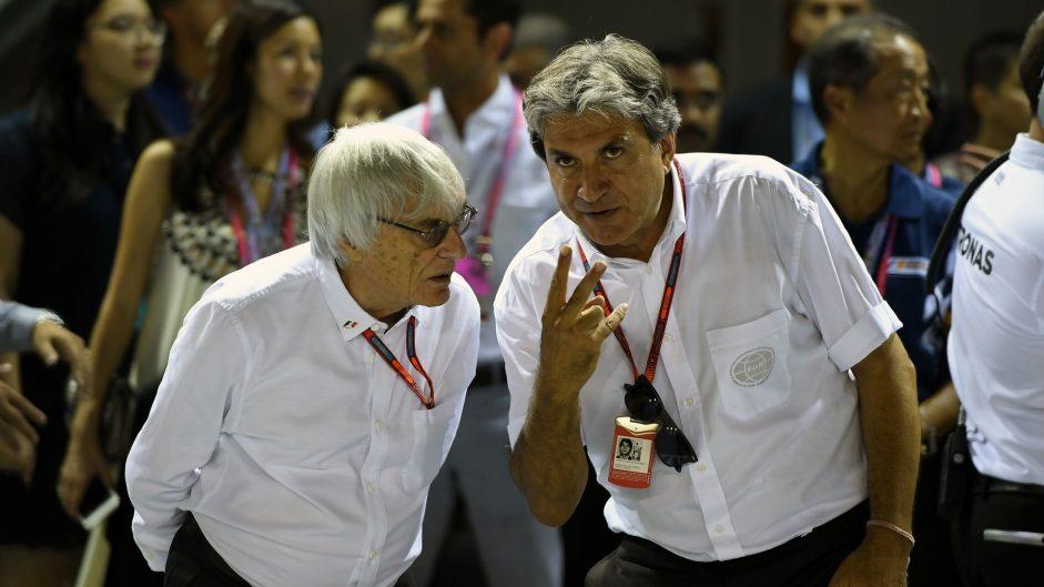 Bernie Ecclestone, Pasquale Lattuneddu, Singapore, 2016