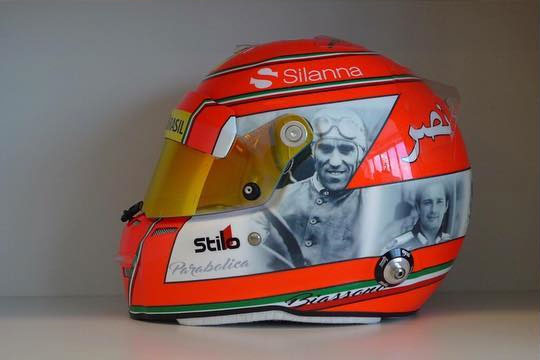 Nasr pays tribute to Italian greats with Monza helmet