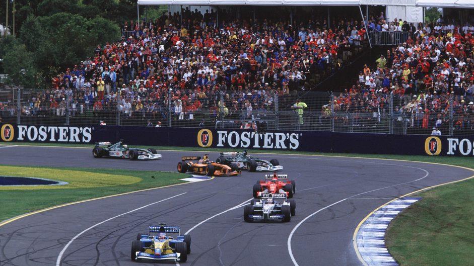 Jenson Button, Renault, Melbourne, 2002