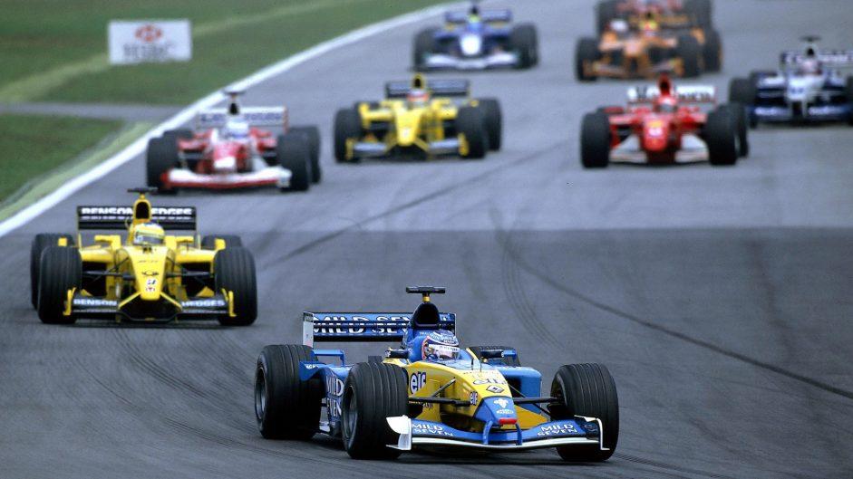 Jenson Button, Renault, Sepang, 2002