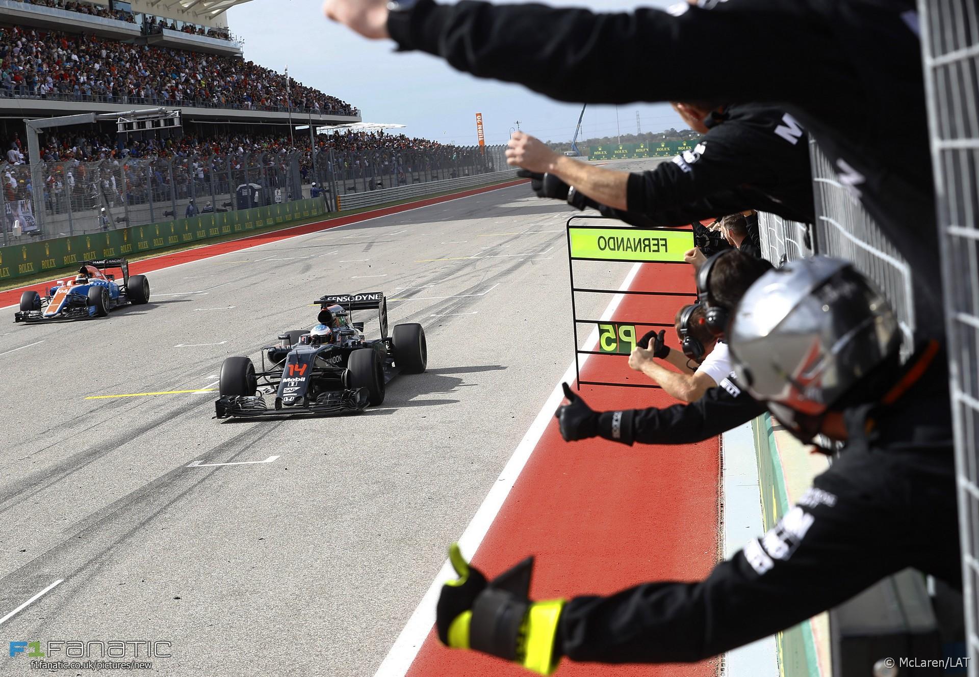 Fernando Alonso, McLaren, Circuit of the Americas, 2016