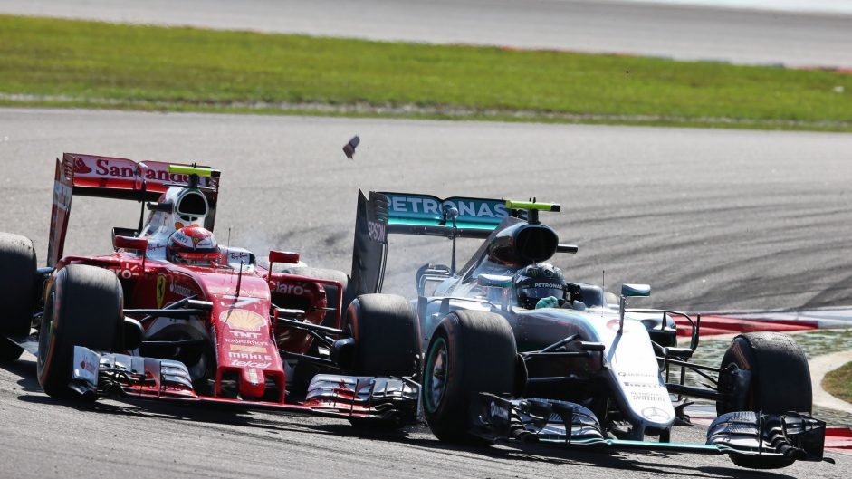 Rosberg halfway to a ban after Raikkonen collision penalty