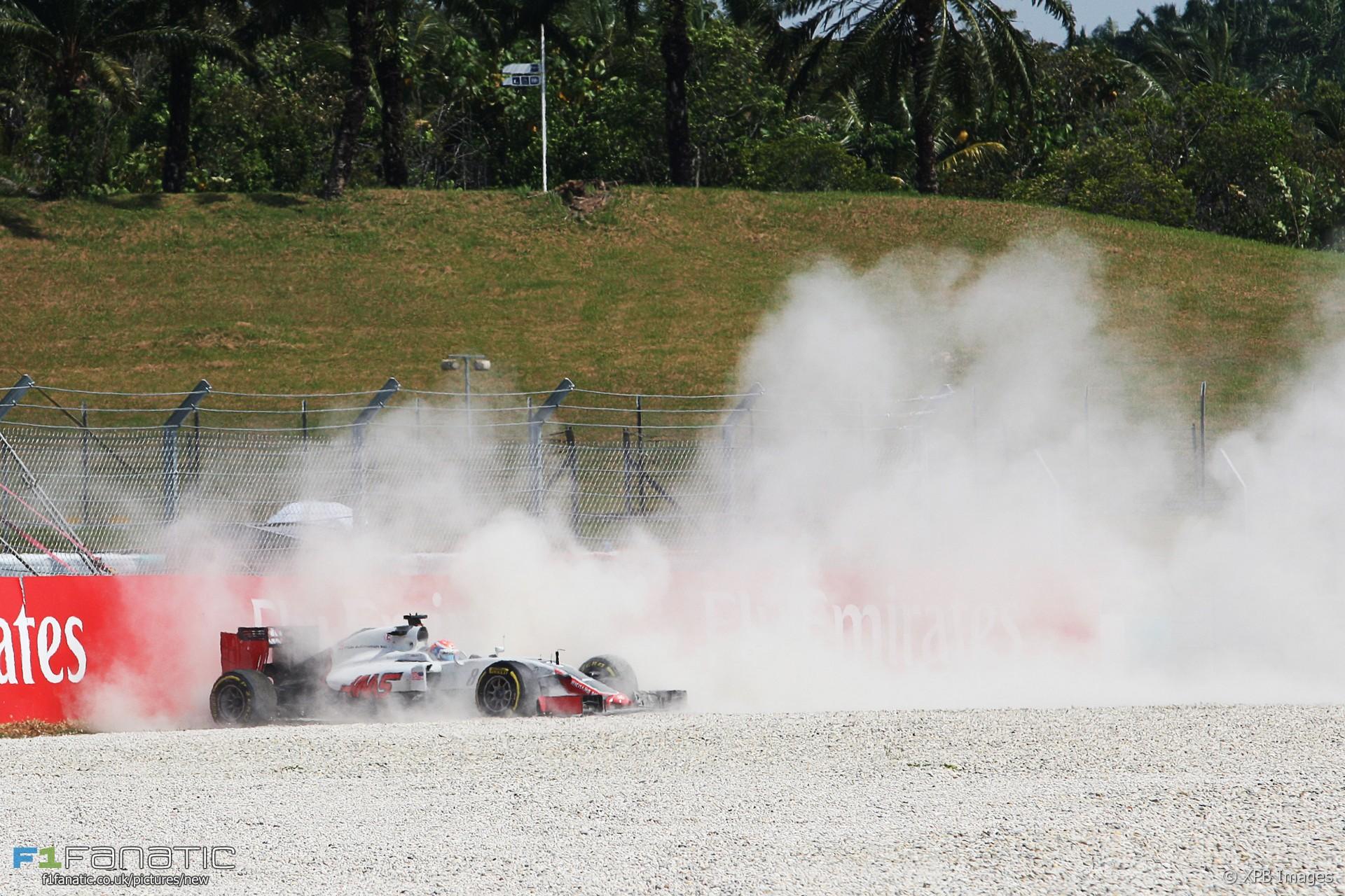 Romain Grosjean, Haas, Sepang International Circuit, 2016