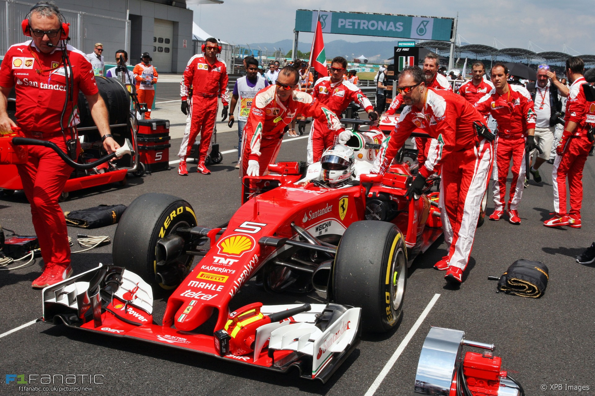 Sebastian Vettel, Ferrari, Sepang International Circuit, 2016