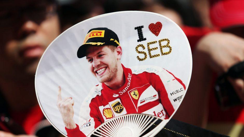 Sebastian Vettel fan, Mercedes, Suzuka, 2016