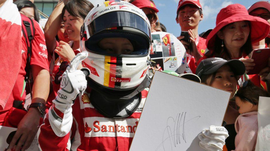 Sebastian Vettel fan, Suzuka, 2016
