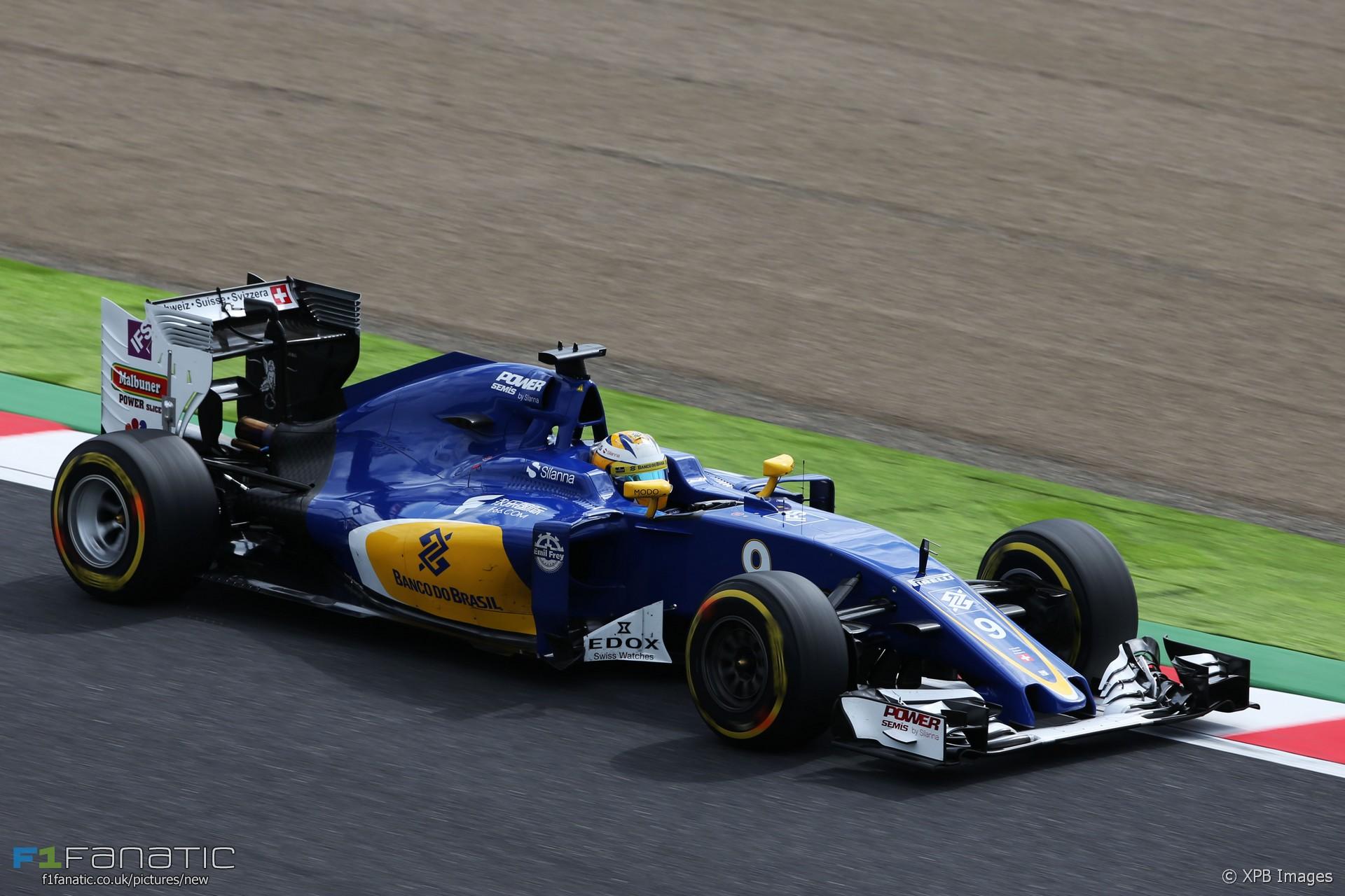 Marcus Ericsson, Sauber, Suzuka, 2016 · F1 Fanatic