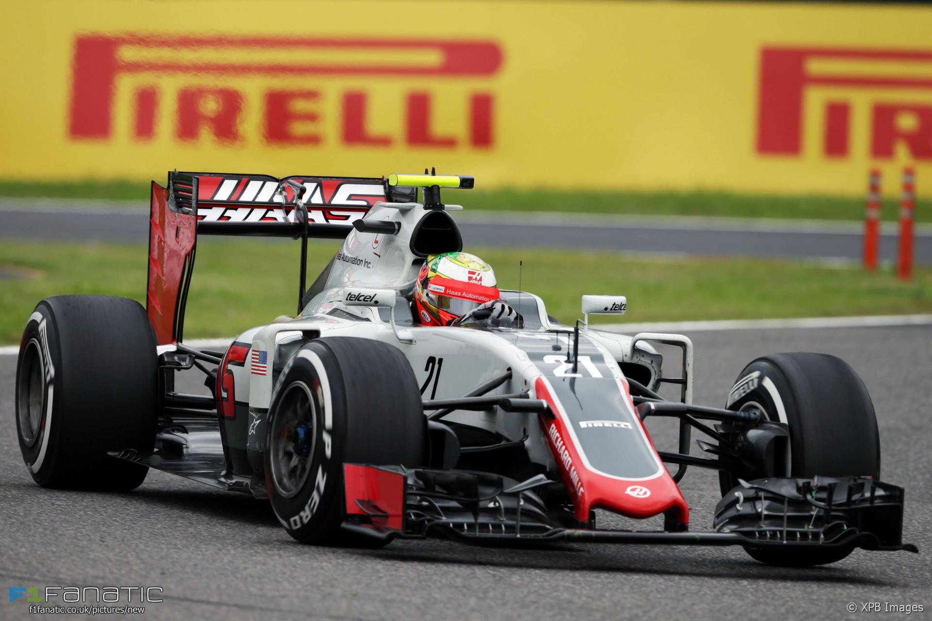 Esteban Gutierrez, Haas, Suzuka, 2016