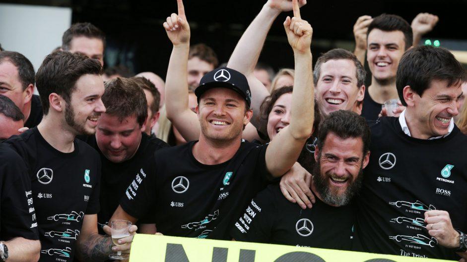 Mercedes win third constructors' championship title