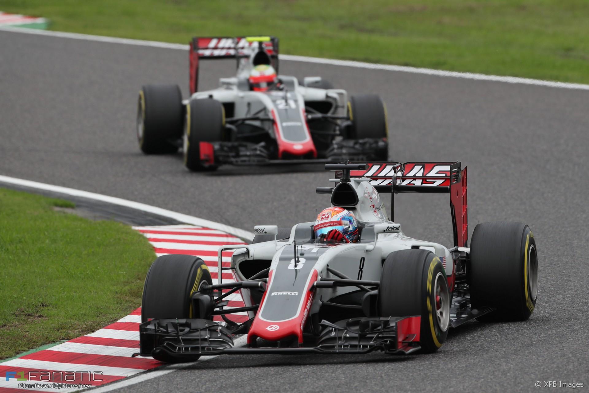 Romain Grosjean, Haas, Suzuka, 2016