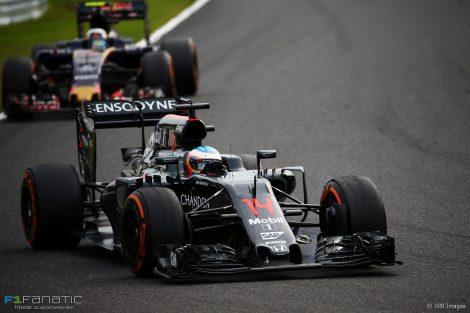 Fernando Alonso, McLaren, Suzuka, 2016