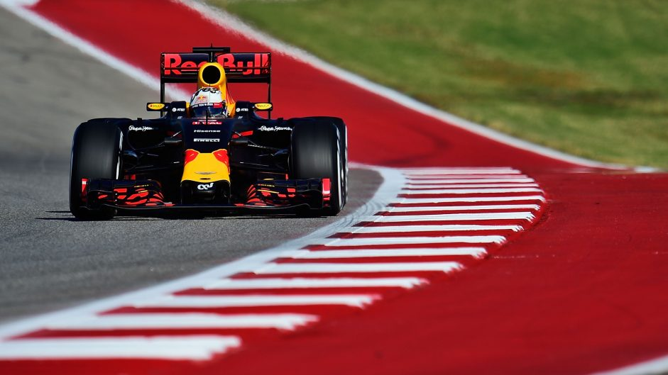 Daniel Ricciardo, Red Bull, Circuit of the Americas, 2016