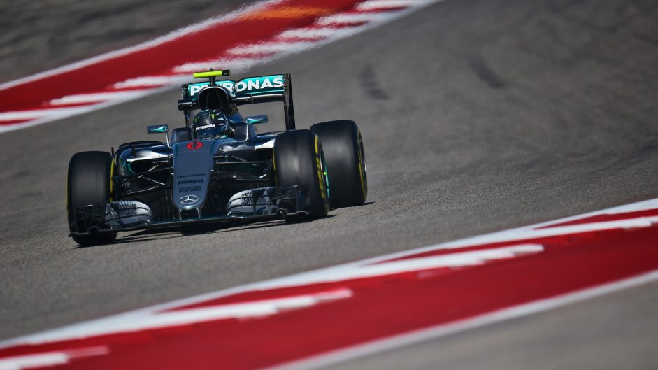 Nico Rosberg, Mercedes, Circuit of the Americas, 2016