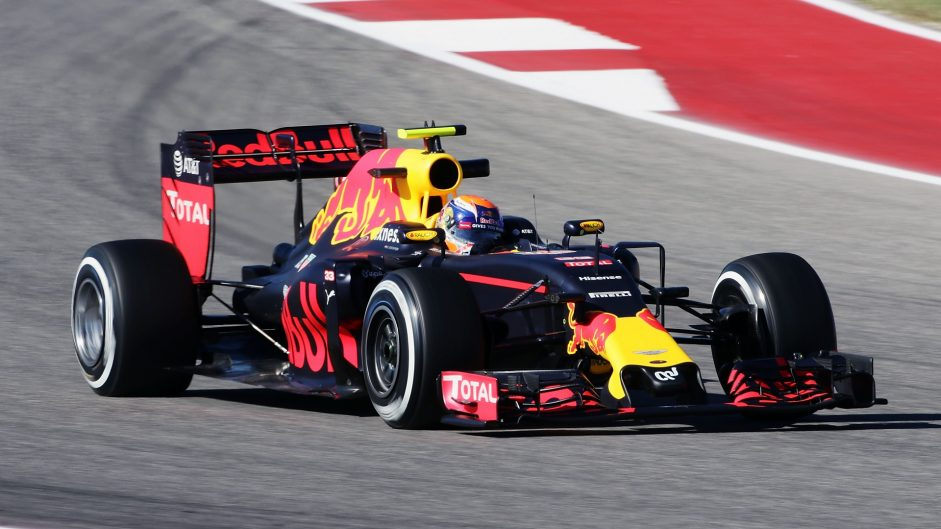 Max Verstappen, Red Bull, Circuit of the Americas, 2016