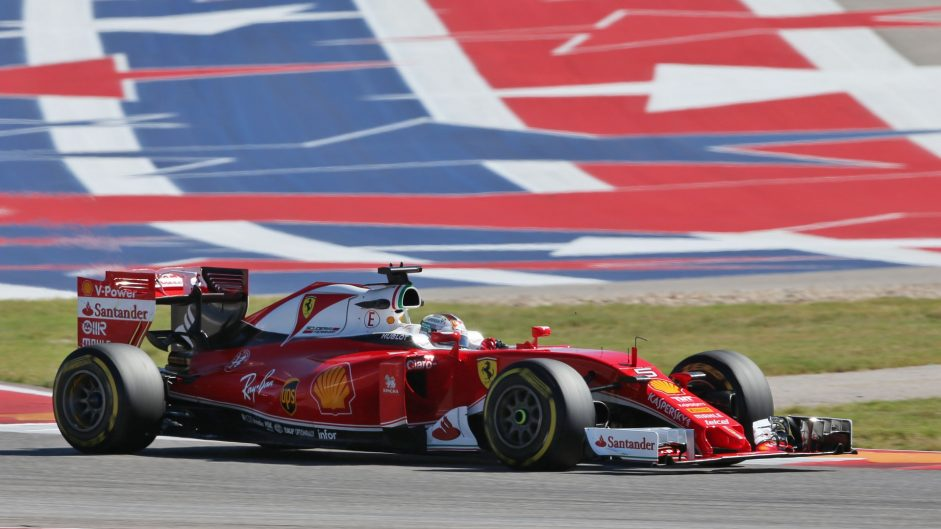 Sebastian Vettel, Ferrari, Circuit of the Americas, 2016