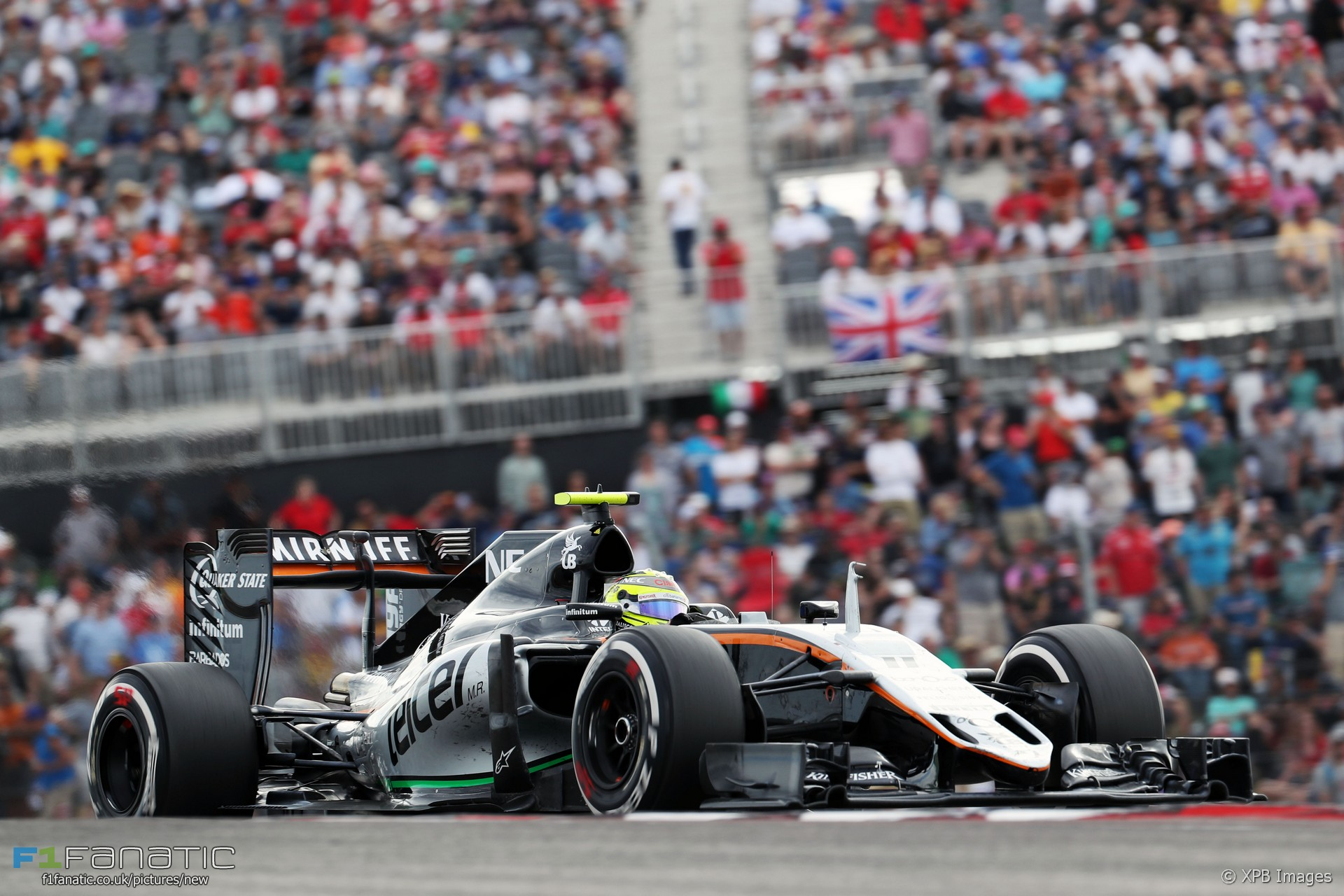 sergio perez force india circuit of the americas 2016 f1 fanatic. Black Bedroom Furniture Sets. Home Design Ideas
