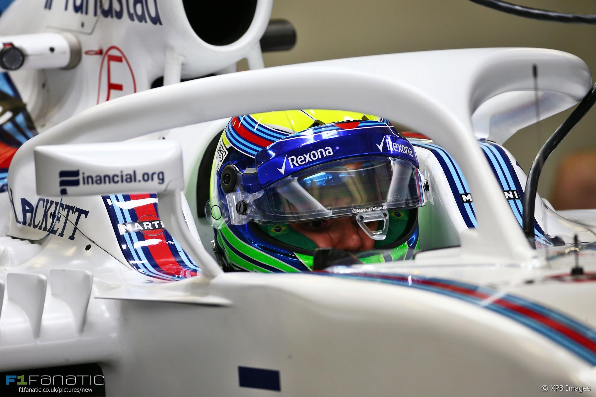 Halo on Felipe Massa's Williams, Autodromo Hermanos Rodriguez, 2016