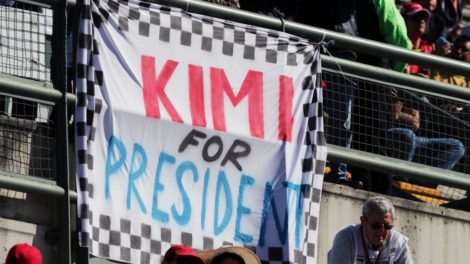 Kimi Raikkonen fans banner, Autodromo Hermanos Rodriguez, 2016