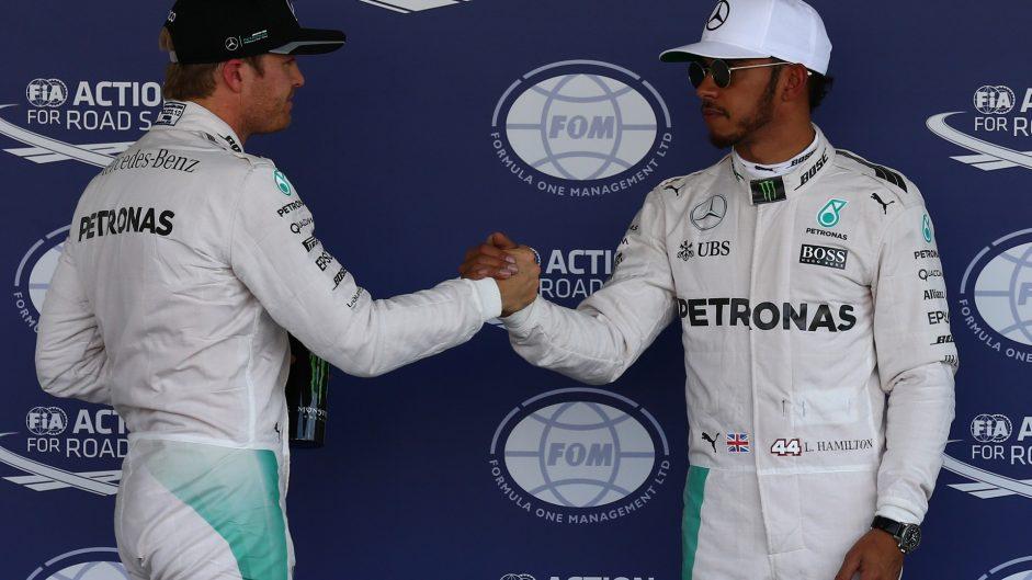 Hamilton on pole, Rosberg second in Mexico
