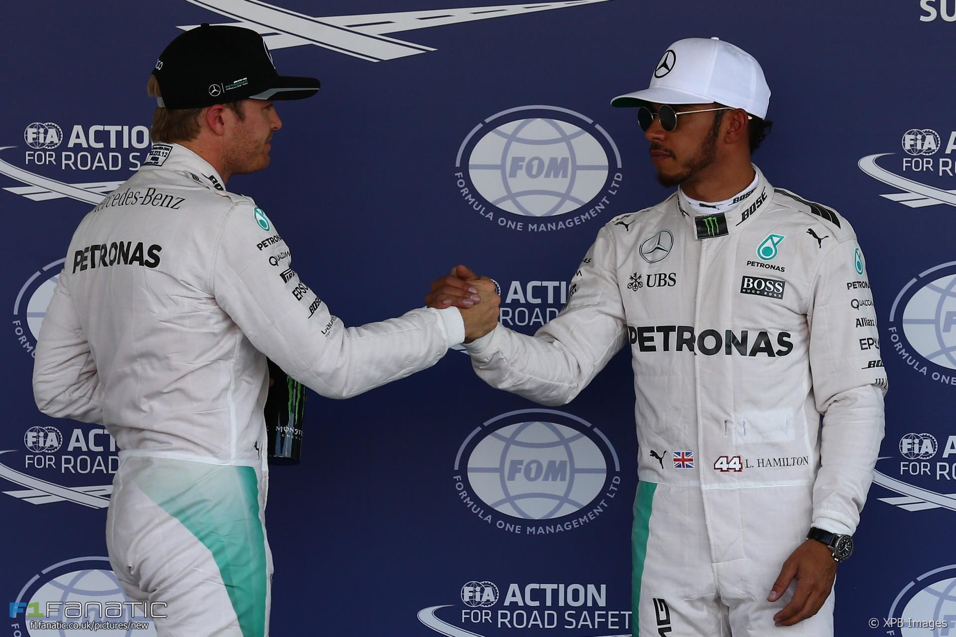 Nico Rosberg, Lewis Hamilton, Mercedes, Autodromo Hermanos Rodriguez, 2016