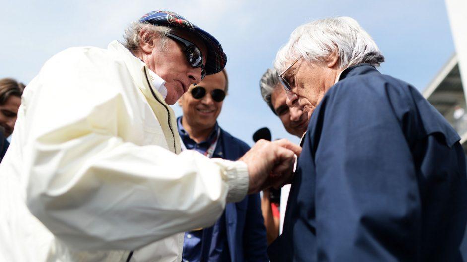 Jackie Stewart, Bernie Ecclestone, Autodromo Hermanos Rodriguez, 2016