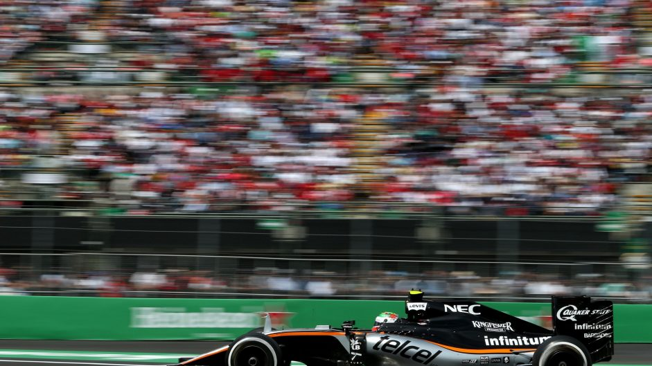 Sergio Perez, Force India, Autodromo Hermanos Rodriguez, 2016