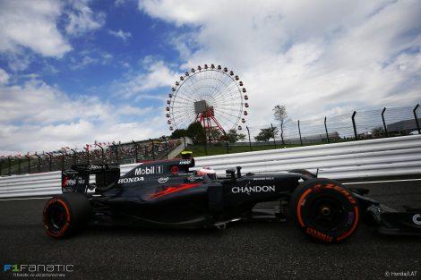 Jenson Button, McLaren, Suzuka, 2016