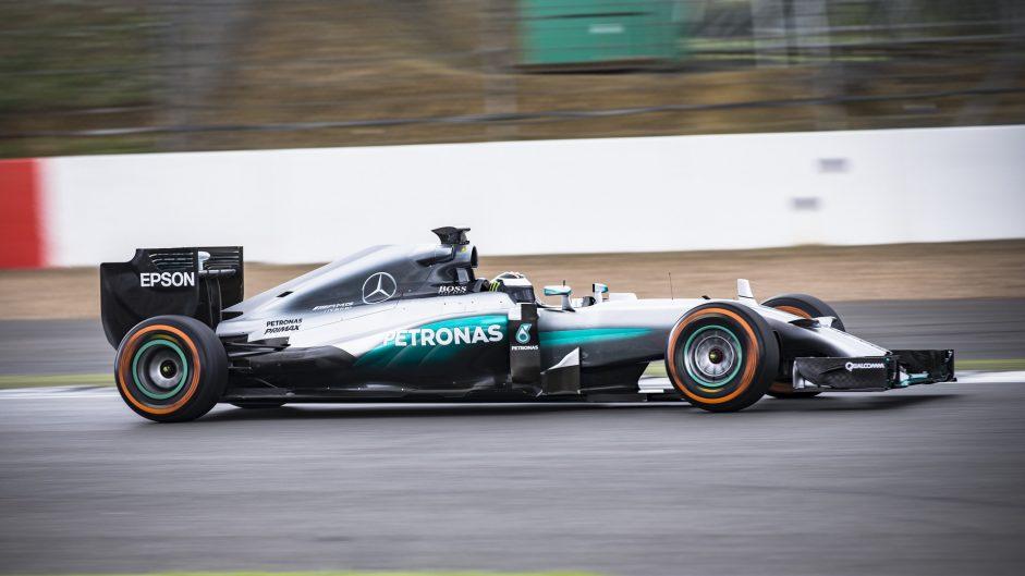 Jorge Lorenzo, Mercedes W05, Silverstone, 2016