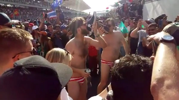 Fans arrested for stripping at Malaysian Grand Prix