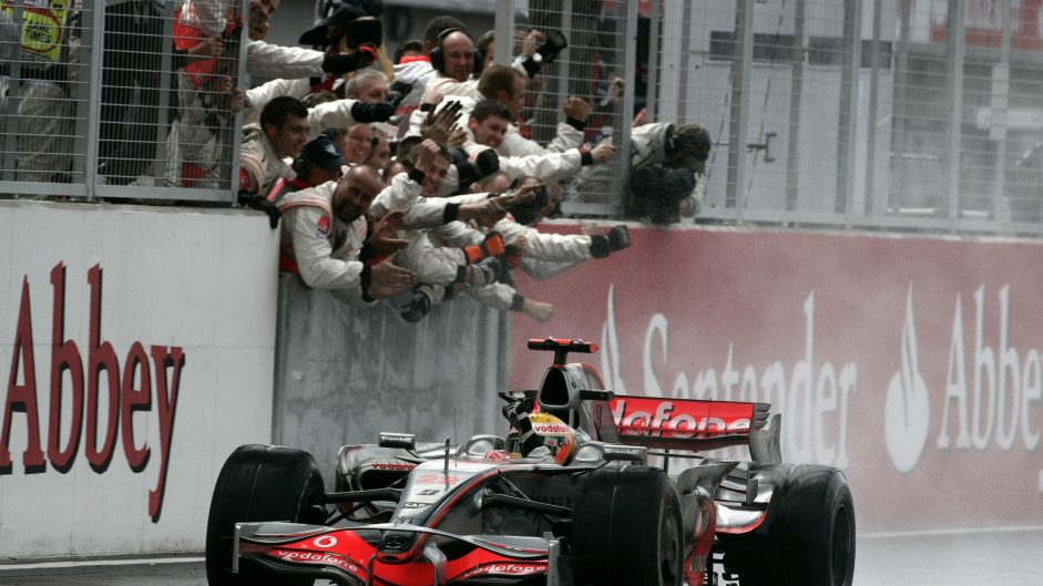 Hamilton's McLaren career in pictures