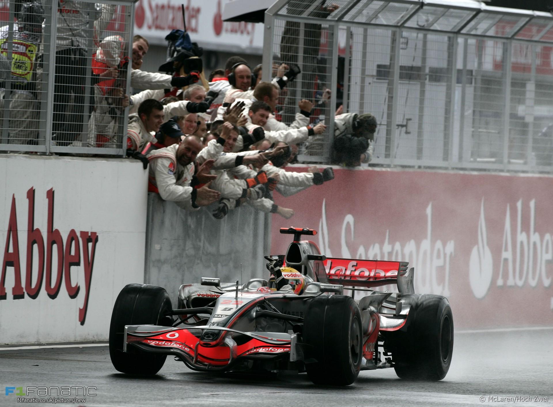 Lewis Hamilton, McLaren, Silverstone, 2008