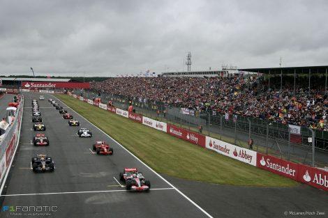 Start, Silverstone,. 2008
