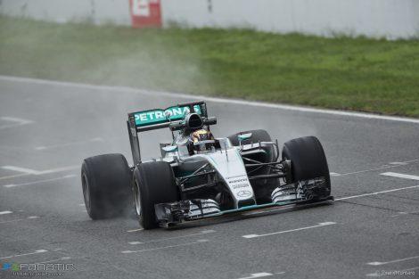 Pascal Wehrlein, Mercedes, Circuit de Catalunya, 2016