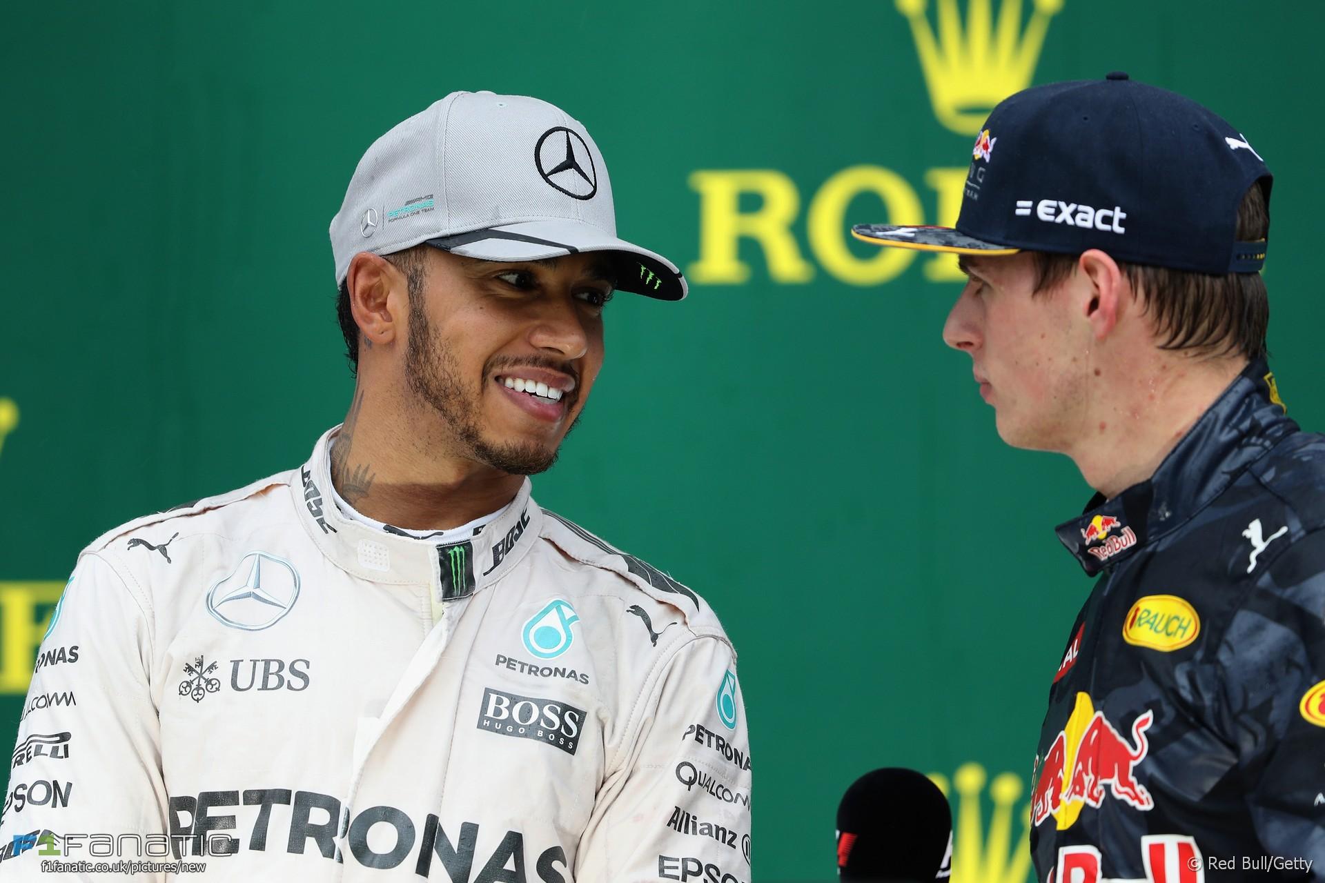 Lewis Hamilton, Max Verstappen, Interlagos, 2016