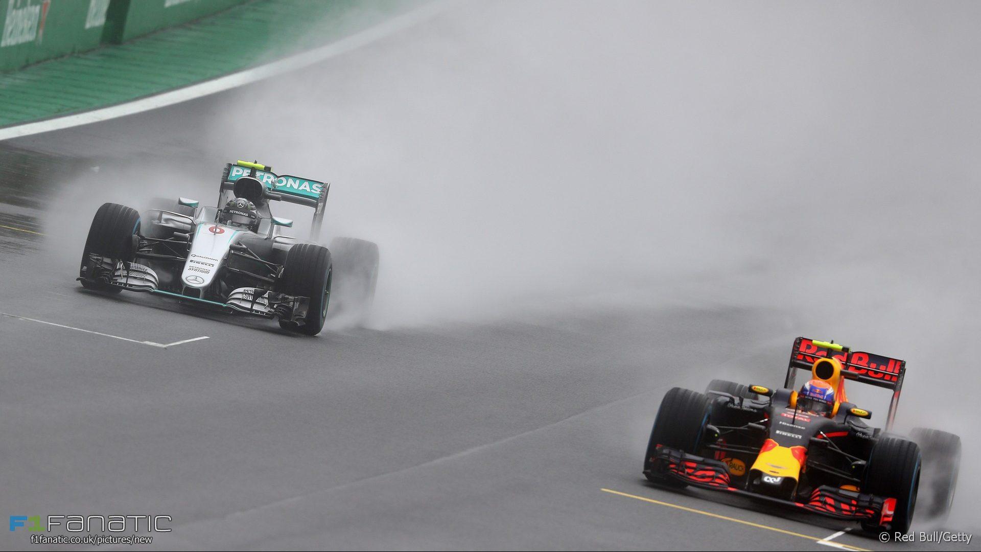 Nico Rosberg, Max Verstappen, Interlagos, 2016