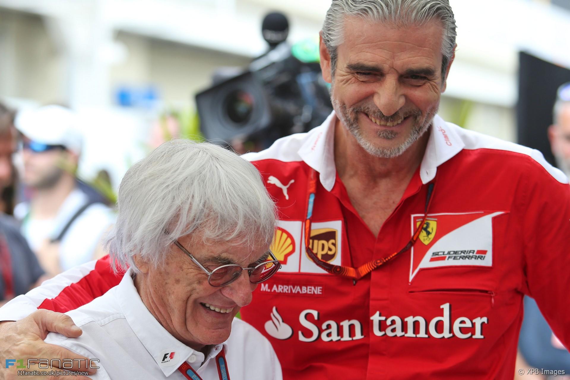Bernie Ecclestone, Maurizio Arrivabene, Interlagos, 2016