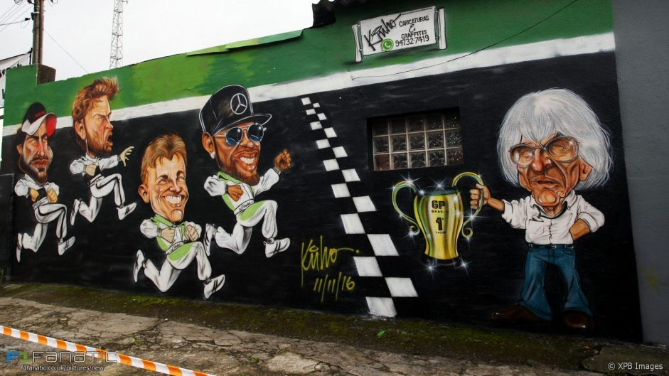 F1 caricatures, Interlagos, 2016