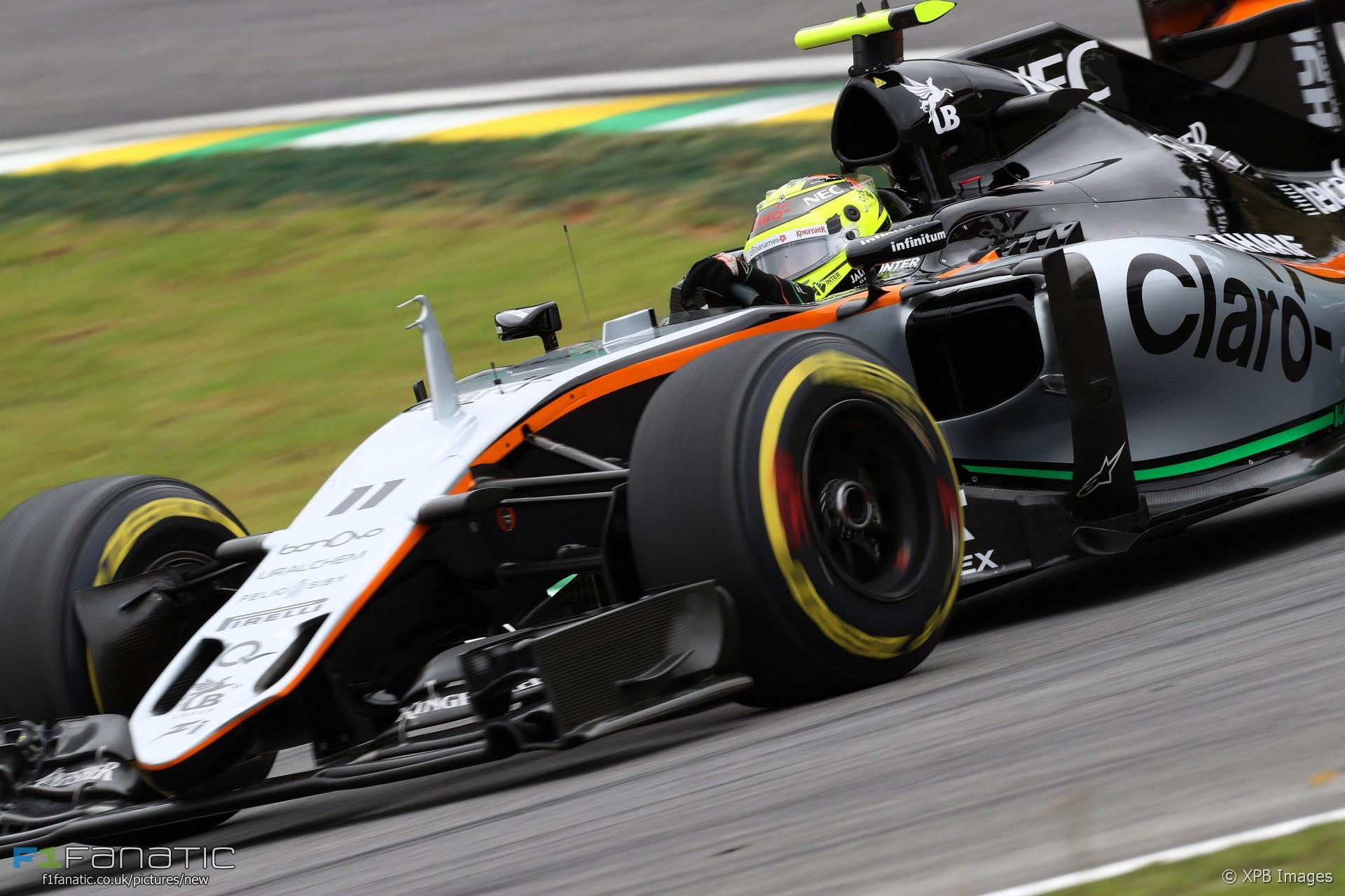 Sergio Perez Force India Interlagos 2016 F1 Fanatic