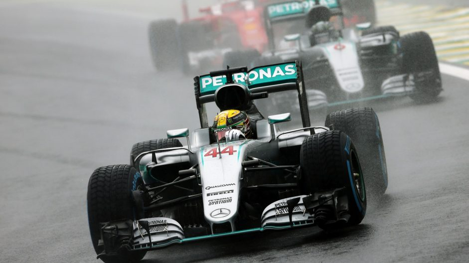 Hamilton wins but Rosberg closes on title in Brazil