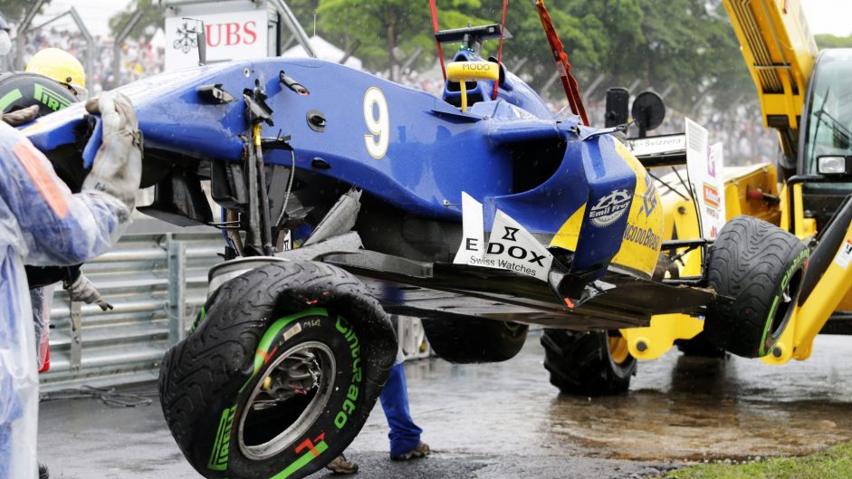 Button relieved no one was hurt in crash-strewn race