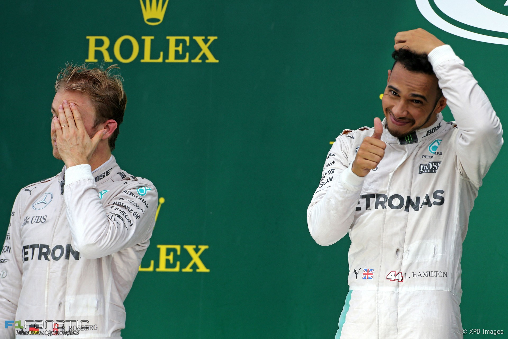Nico Rosberg, Lewis Hamilton, Mercedes, Interlagos, 2016
