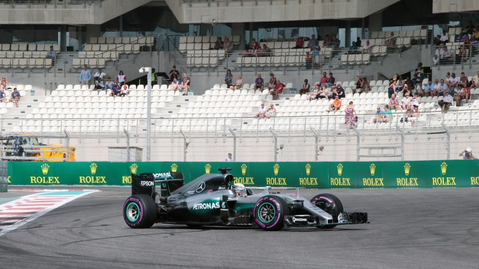 Hamilton spins but leads Rosberg in first practice